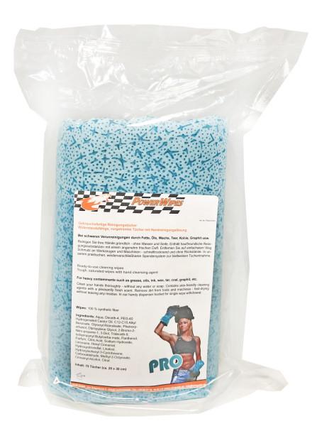 PowerWipes PRO Refill Handreinigungstücher 75 Blatt blaues Vlies Nachfüllp. für Dose (6 Rollen)