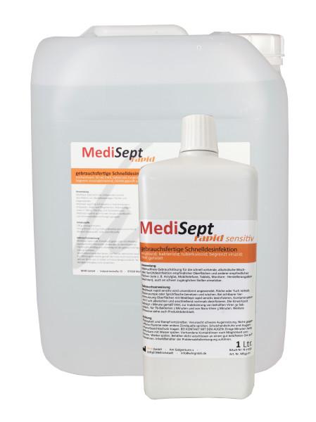 MediSept rapid sensitiv 1Liter (6 Stück) oder 10Kg