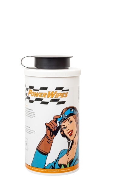 PowerWipes Handreinigungstücher für Industrie 75 Blatt weißes Vlies (1 Dose)