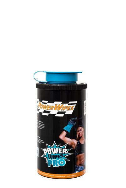 PowerWipes Pro Handreinigungstücher für Industrie 75 Blatt blaues Vlies (1 Dose)